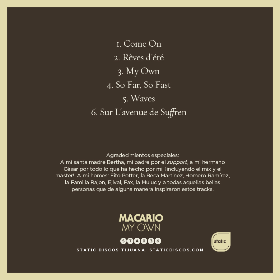 Macario_My Own_Backcover